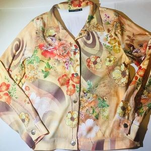 Shades Of Brown/Tan  Flower Jacket